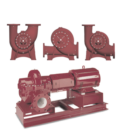 Double suction pumps